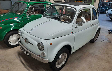 Fiat 500 nuova wit uit 1966 DE-89-14