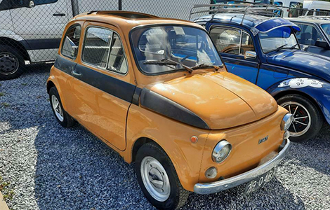 Fiat 500 geel 29-04-RR